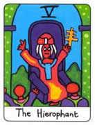 The Hierophant Tarot card in African Tarot Tarot deck