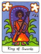 King of Swords Tarot card in African Tarot Tarot deck