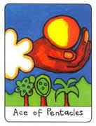 Ace of Pentacles Tarot card in African Tarot deck