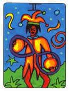 Two of Pentacles Tarot card in African Tarot Tarot deck