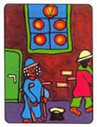 Five of Pentacles Tarot card in African Tarot Tarot deck