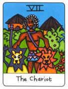 The Chariot Tarot card in African Tarot deck