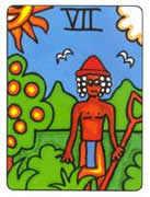 Seven of Pentacles Tarot card in African Tarot Tarot deck