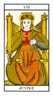 Justice Tarot Card - Angel Tarot Deck
