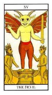 The Devil Tarot Card - Angel Tarot Deck