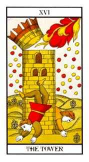 The Falling Tower Tarot Card - Angel Tarot Deck