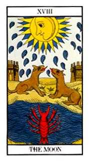 The Moon Tarot Card - Angel Tarot Deck