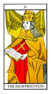 The High Priestess Tarot Card - Angel Tarot Deck
