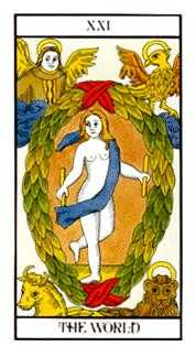 The World Tarot Card - Angel Tarot Deck