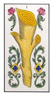 Ace of Pipes Tarot Card - Angel Tarot Deck