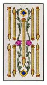 Nine of Staves Tarot Card - Angel Tarot Deck