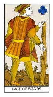 Page of Clubs Tarot Card - Angel Tarot Deck