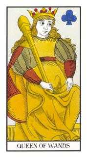Queen of Clubs Tarot Card - Angel Tarot Deck