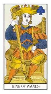 King of Clubs Tarot Card - Angel Tarot Deck