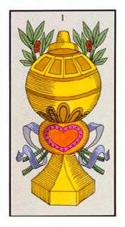 Ace of Cups Tarot Card - Angel Tarot Deck