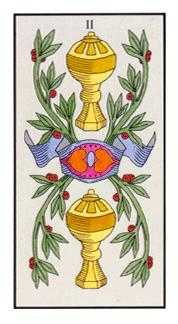 Two of Cups Tarot Card - Angel Tarot Deck