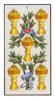 Five of Cups Tarot Card - Angel Tarot Deck