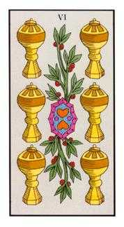 Six of Cups Tarot Card - Angel Tarot Deck