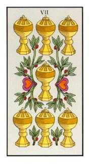 Seven of Bowls Tarot Card - Angel Tarot Deck