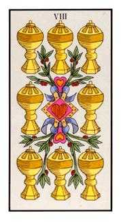 Eight of Cups Tarot Card - Angel Tarot Deck
