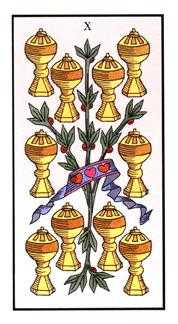 Ten of Cauldrons Tarot Card - Angel Tarot Deck