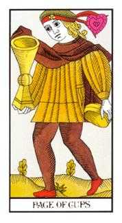Knave of Cups Tarot Card - Angel Tarot Deck