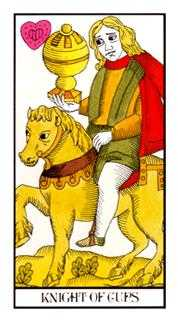 Cavalier of Cups Tarot Card - Angel Tarot Deck