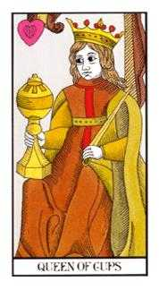Queen of Bowls Tarot Card - Angel Tarot Deck