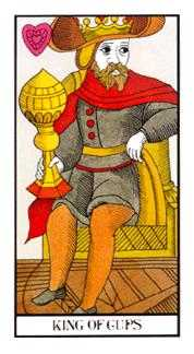 King of Cups Tarot Card - Angel Tarot Deck