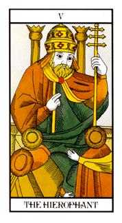 The Hierophant Tarot Card - Angel Tarot Deck