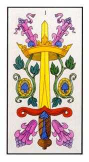 Ace of Arrows Tarot Card - Angel Tarot Deck
