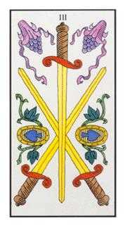 Three of Swords Tarot Card - Angel Tarot Deck