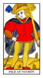 Valet of Swords Tarot Card - Angel Tarot Deck