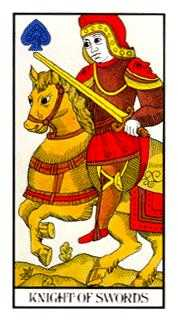 Knight of Rainbows Tarot Card - Angel Tarot Deck