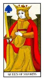 Queen of Swords Tarot Card - Angel Tarot Deck