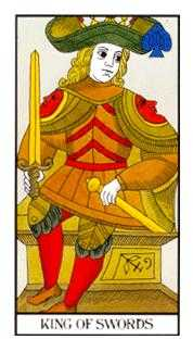 King of Spades Tarot Card - Angel Tarot Deck