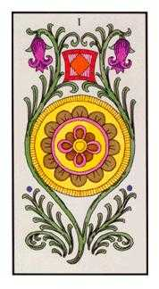 Ace of Discs Tarot Card - Angel Tarot Deck