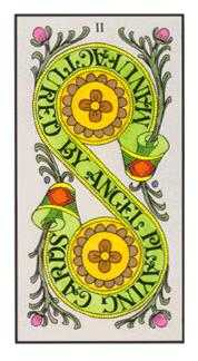 Two of Coins Tarot Card - Angel Tarot Deck