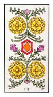 Four of Discs Tarot Card - Angel Tarot Deck
