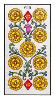 Nine of Coins Tarot Card - Angel Tarot Deck