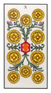 Ten of Coins Tarot Card - Angel Tarot Deck