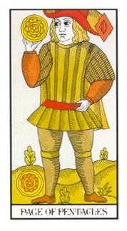 Page of Pentacles Tarot Card - Angel Tarot Deck