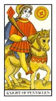 Knight of Coins Tarot Card - Angel Tarot Deck