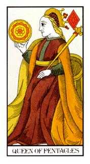 Queen of Coins Tarot Card - Angel Tarot Deck
