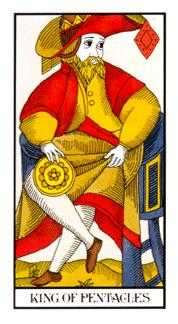 King of Diamonds Tarot Card - Angel Tarot Deck