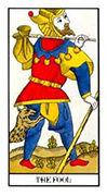 The Fool Tarot card in Angel Tarot deck