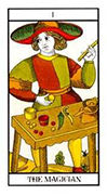 The Magician Tarot card in Angel Tarot deck