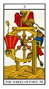 Wheel of Fortune Tarot card in Angel Tarot deck