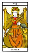 Justice Tarot card in Angel Tarot deck