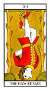 The Hanged Man Tarot card in Angel Tarot deck